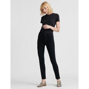 Lucky Brand Black Mid Rise Hayden Skinny Jean
